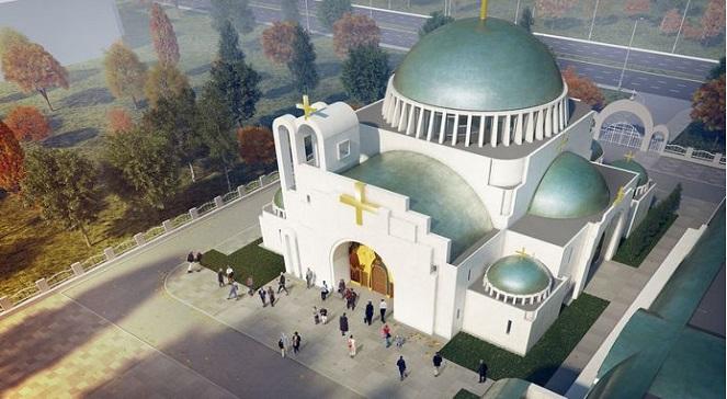 Визуализация проекта православного храма Божьей Мудрости в Варшаве.