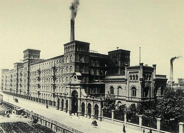 Лудзь, текстильна фабрика Ізраеля Познанського, знімок приблизно 1895 року