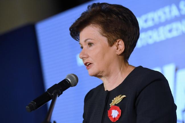 Мэр Варшавы Ганна Гранкевіч-Вальц