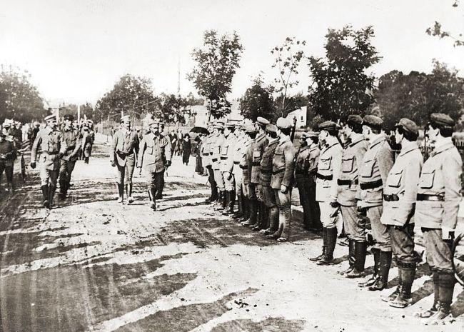 Юзеф Пилсудский и бойцы Стрелецкого союза в Закопане, 1913 год.
