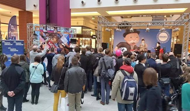 The game was launched over the weekend at the Bonarka City Center mall. Photo: Facebook/Bonarka