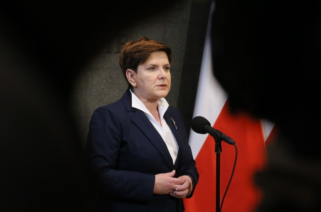 PM Beata Szydło. Photo: PAP/Paweł Supernak