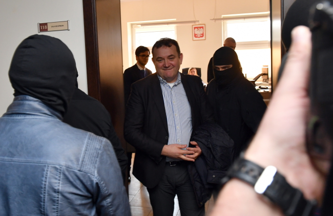 Stanisław Gawłowski faced a district court in Poland's northwest on Sunday. Photo: PAP/Marcin Bielecki.
