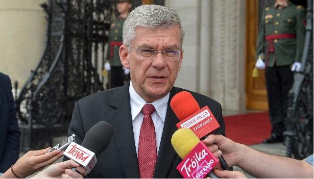 Marszałek Senatu RP Stanisław Karczewski w trakcie wizyty w Budapeszcie.