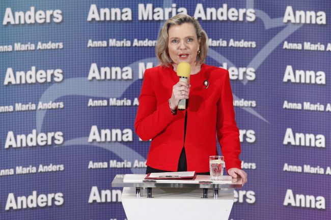 Anna Maria Anders on Thursday. Photo: PAP/Artur Reszko