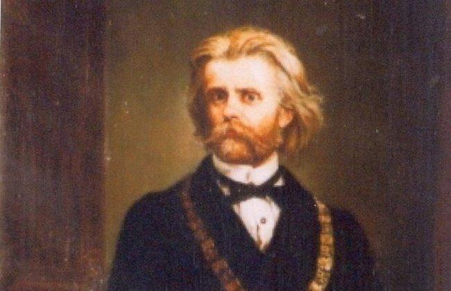 Detail of Jan Matejko's 'Portrait of Professor Karol Gilewski'