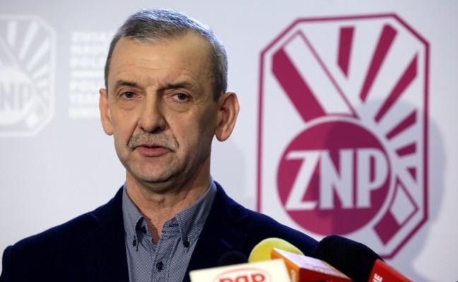 Sławomir Broniarz. Photo: PAP/Tomasz Gzell