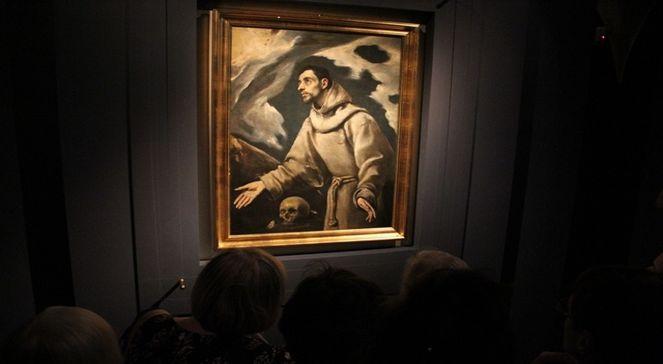 Экстаз Фрнациска Ассизского работы Эль Греко в выставочном зале Королевского замка в Варшаве.