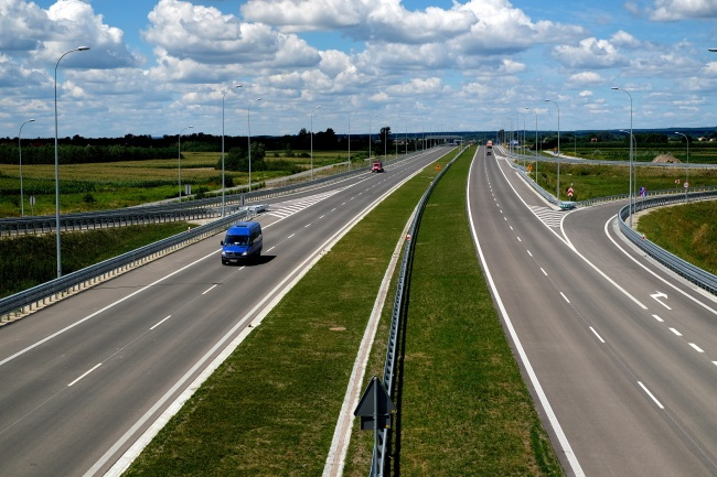 New section of the A4 motorway. Photo: PAP/Darek Delmanowicz