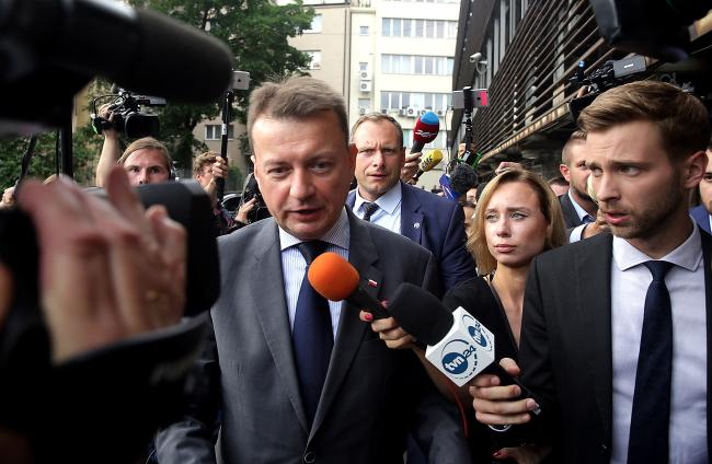 Polish Minister of Interior Mariusz Błaszczak. Photo: PAP/Tomasz Gzell