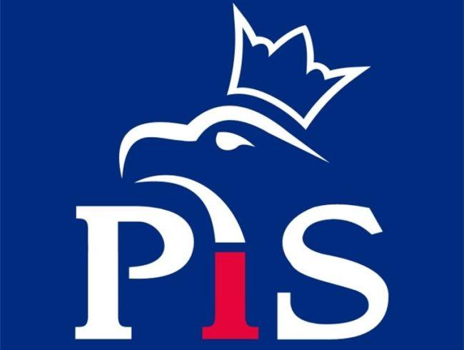 """Логотип партии """"Право и справедливость"""" (ПиС)."""