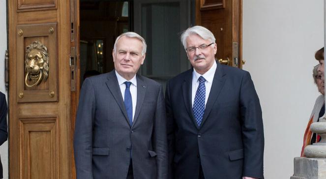 Ministrowie spraw zagranicznych Francji i Polski