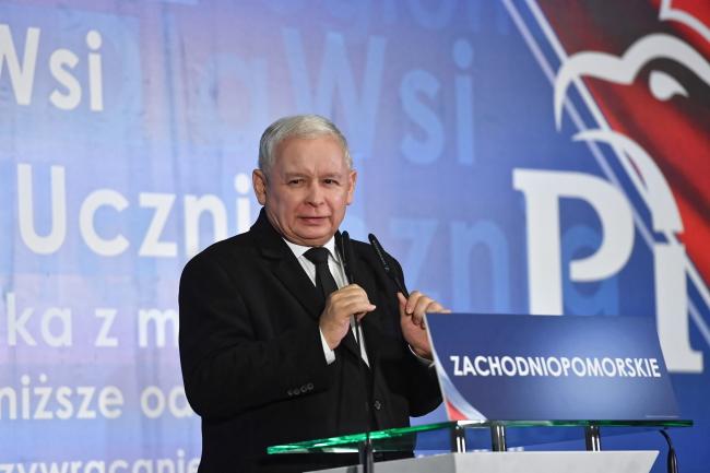 Law and Justice party leader Jarosław Kaczyński. Photo: PAP/Marcin Bielecki