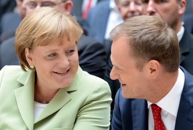 Анґеля Меркель і Дональд Туск