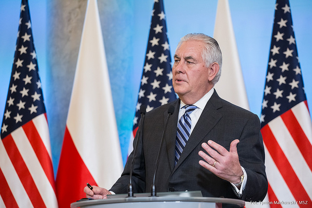 Rex Tillerson during his official trip to Poland in January this year. Photo: T. MARKOWSKI/MSZ.