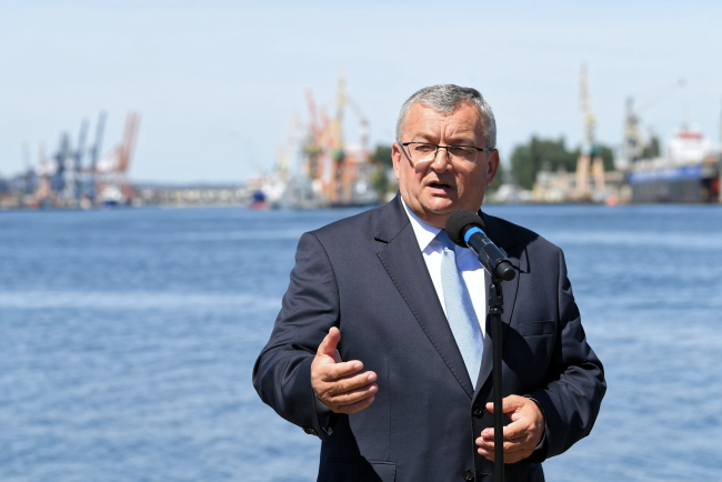 Міністр інфраструктури Анджей Адамчик, Ґдиня, 24 червня 2019 року
