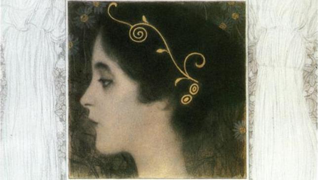 Ґустав Клімт, Алегорія молодості (фрагмент), 1896.