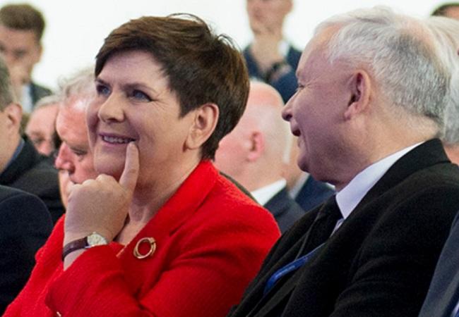 Prime Minister Beata Szydło and Law and Justice (PiS) party leader Jarosław Kaczyński. Photo courtesy of pis.org.pl