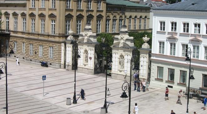 Головна брама Варшавського університету при вулиці Краківське передмістя