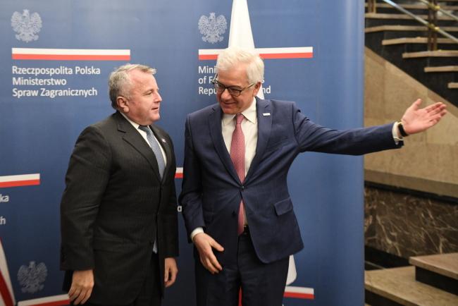 Міністр закордонних справ Польщі Яцек Чапутович зустрівся з заступником  державного секретаря США Джоном Салліваном