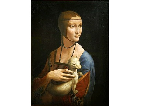 Leonardo da Vinci's Lady with an Ermine. Public domain, via Wikimedia Commons