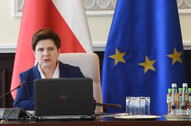 PM Beata Szydło before the Cabinet session. Photo: PAP/Radek Pietruszka