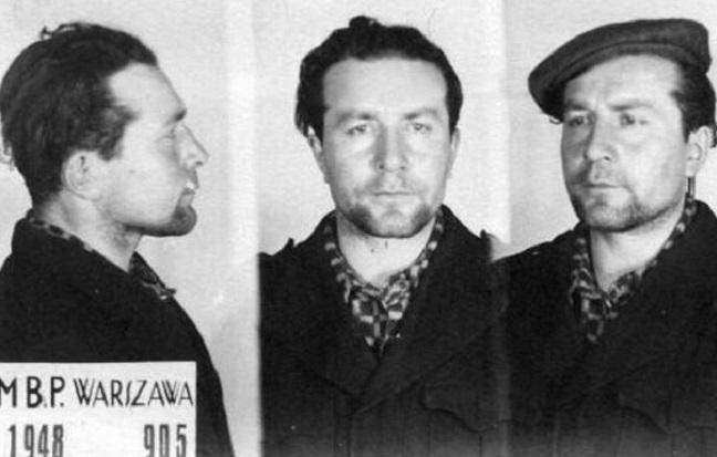 Ромуальд Райс во время ареста органами МГБ Польши. 1948 г.