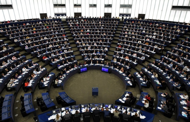 MEPs vote on modifications to EU copyright reforms. Photo: EPA/PATRICK SEEGER