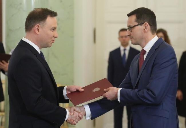 Prezydent Andrzej Duda desygnuje Mateusza Morawieckiego na premiera