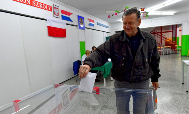 Голосование на выборах в Европарламент в Щецине