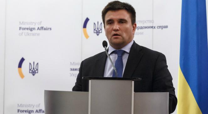 Szef ukraińskiego ministerstwa spraw zagranicznych Pawło Klimkin
