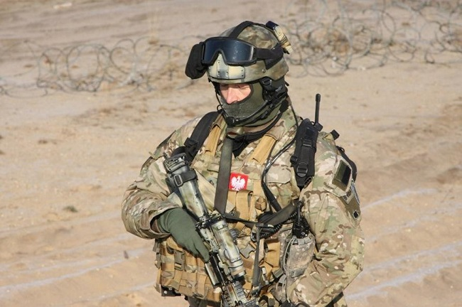 Polish special forces soldier. Photo: Twitter.com/MON