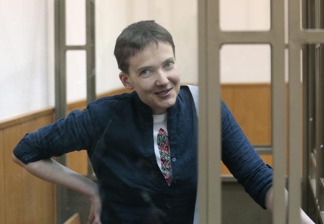 Надія Савченко під час оголошення вироку, 21 березня 2016 року