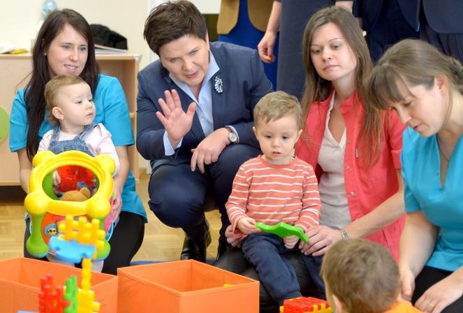 Прем'єр-міністр Польщі Беата Шидло взяла участь у відкритті дитячих ясел у місцевості Стальова Воля в Підкарпатському воєводстві