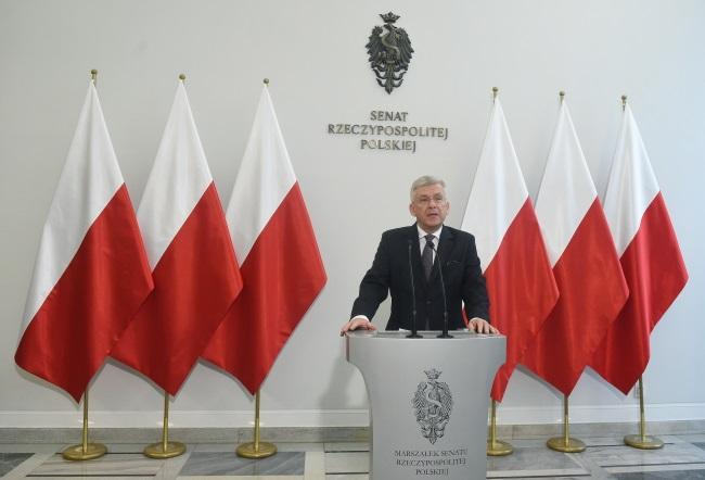 Senate Speaker Stanisław Karczewski. Photo: PAP/Radek Pietruszka