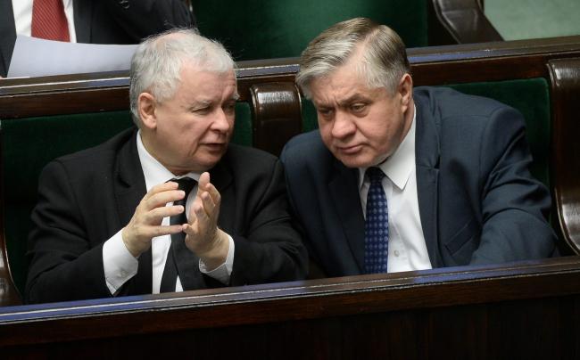 Jarosław Kaczyński with Minister of Agriculture Krzysztof Jurgiel. Photo: PAP/Bartłomiej Zborowski