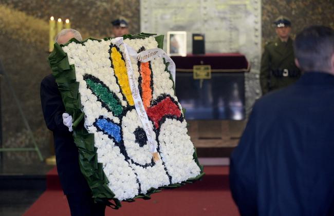 The funeral of artist Wojciech Fangor at Warsaw's Powązki cemetery. Photo: PAP/Bartłomiej Zborowski