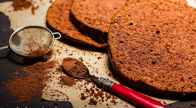 Бисквитные коржи с какао