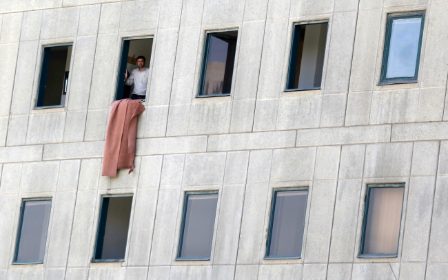 Iranian Parliament attack aftermath. Photo: EPA/STRINGER