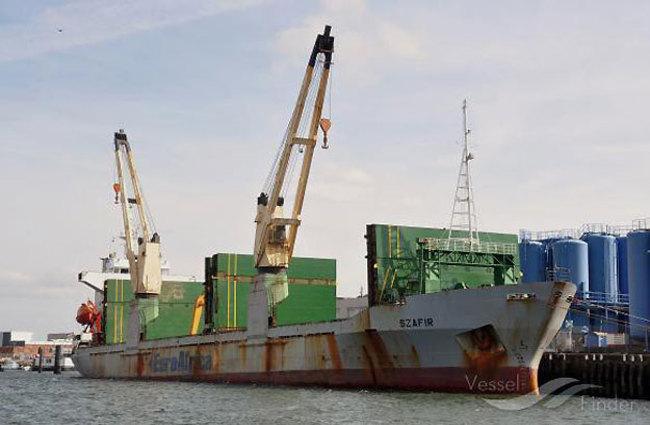 Cargo ship 'Szafir' (Sapphire). Photo: vesselfinder.com