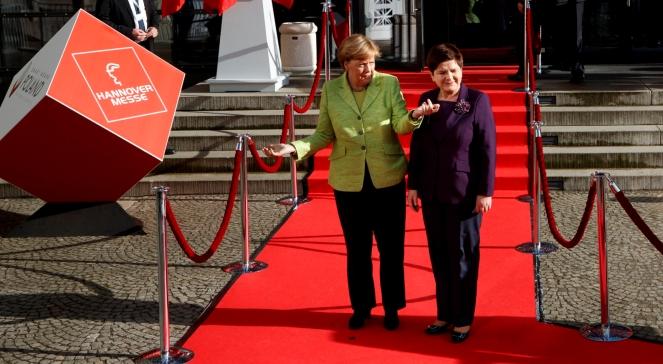 Канцлер Німеччини Анґела Меркель та прем'єр Польщі Беата Шидло під час відкриття Ганноверського ярмарку 2017