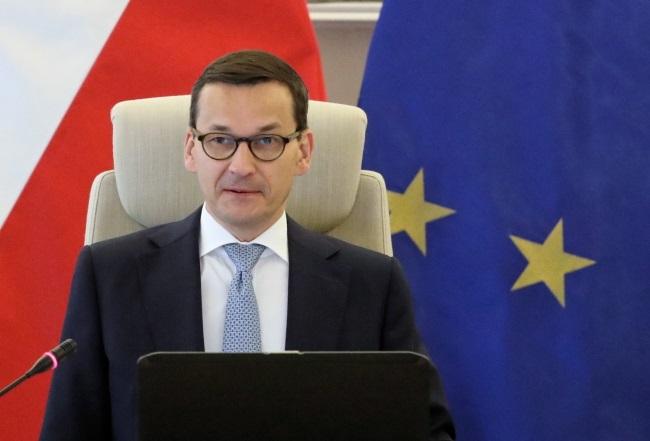 Poland's Prime Minister Mateusz Morawiecki. Photo: PAP/Tomasz Gzell