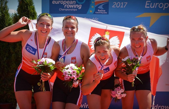 Poland's women's coxless four team. Photo: pztw.org.pl/Julia Kowacic.