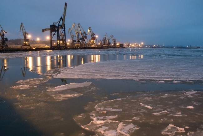 The Ukrainian seaport of Mariupol. Photo: EPA/SERGEY VAGANOV