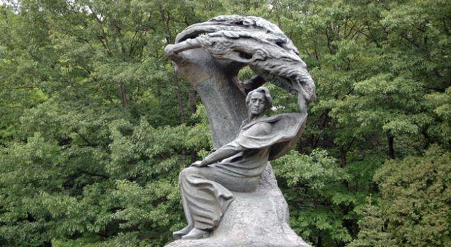 Памятник Фридерику Шопену в парке Королевские Лазенки в Варшаве.