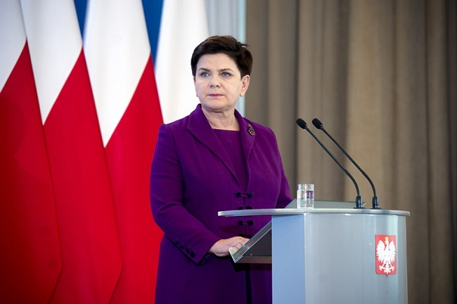 PM Beata Szydło. Photo: www.premier.gov.pl