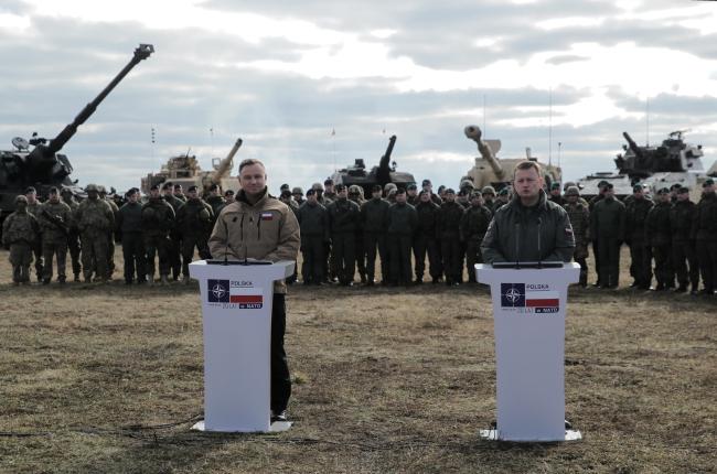 Президент Дуда і міністр національної оборони Блащак відвідали солдатів
