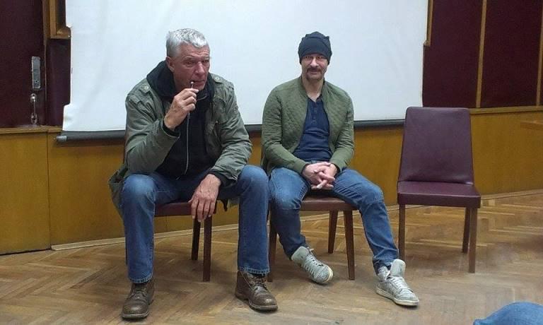 Польський письменник Анджей Стасюк та лідер «Гайдамаків» Олександр Ярмола