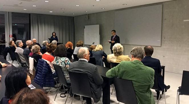 Panel podczas otwarcia wystawy