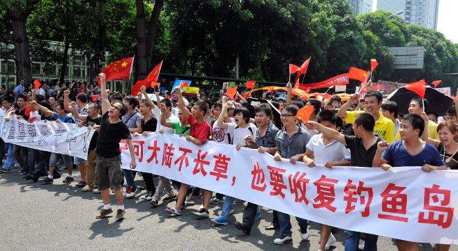 Antyjapońska manifestacja w Chinach